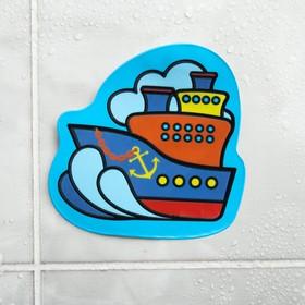 Наклейка для игры в ванной с водным слоем «Корабль»