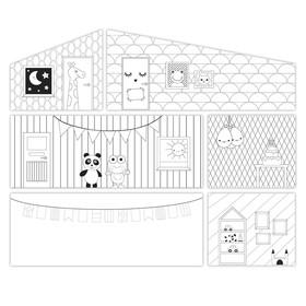 Игровой набор аксессуаров для кукольного домика «Креативные обои»