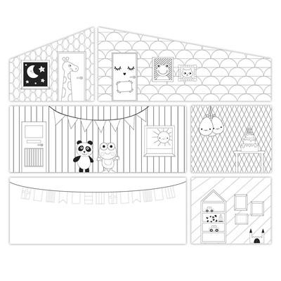 Игровой набор аксессуаров для кукольного домика «Креативные обои» - Фото 1