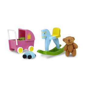 Игровой набор аксессуаров для кукольного домика Смоланд «Игрушки для детской»