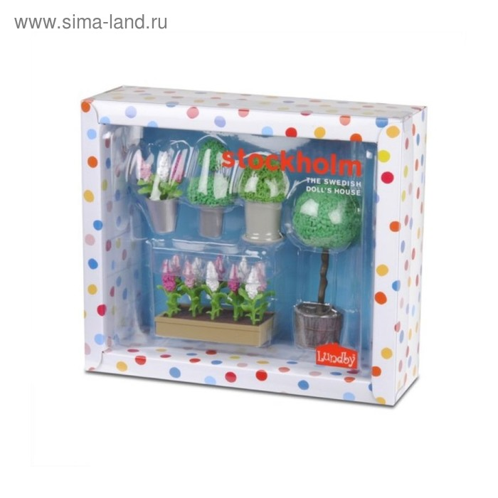 Игровой набор аксессуаров для кукольного домика Стокгольм «Цветы в горшках»