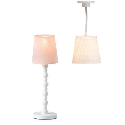 Освещение для кукольного домика «Торшер и лампа с абажурами» - Фото 1