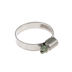 Хомут червячный TUNDRA krep W2, диаметр 25-40 мм, ширина 9 мм, нержавеющая сталь Ош