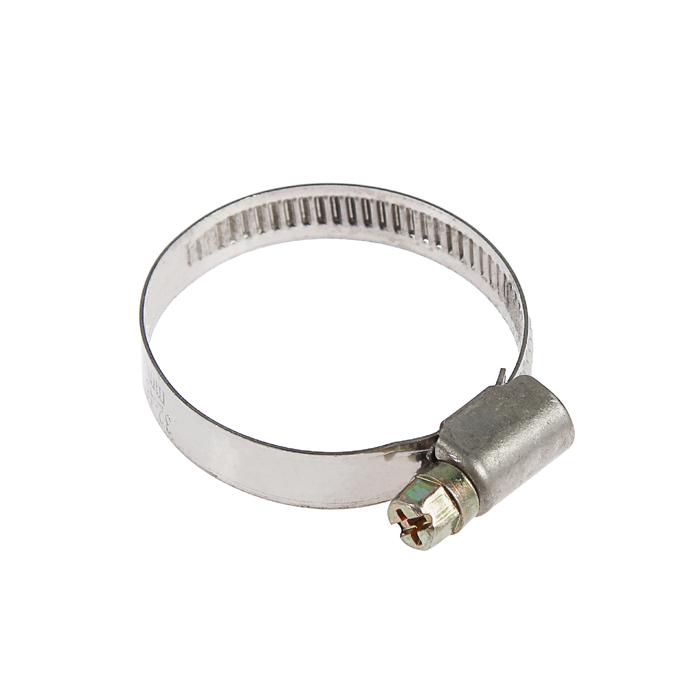 Хомут червячный TUNDRA krep W2, диаметр 32-45 мм, ширина 9 мм, нержавеющая сталь