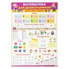 """Плакат """"Обучайка по математике для дошкольников"""" А2"""