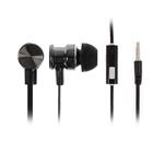 Наушники LuazON W-16, вакуумные, микрофон, плоский провод, кнопка ответа, МИКС