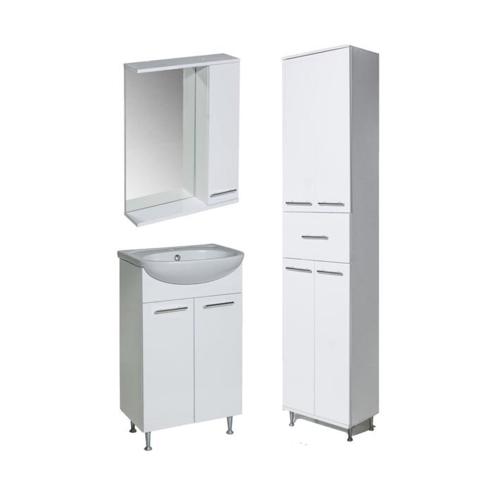 Комплект мебели для ванной Классик 50 зеркалотумба с раковинойпенал правый