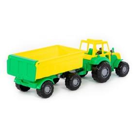 купить Трактор Мастер, с прицепом 1, цвета МИКС