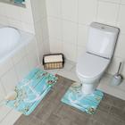 Набор ковриков для ванны и туалета «Якорь», 2 шт: 40×45, 45×75 см