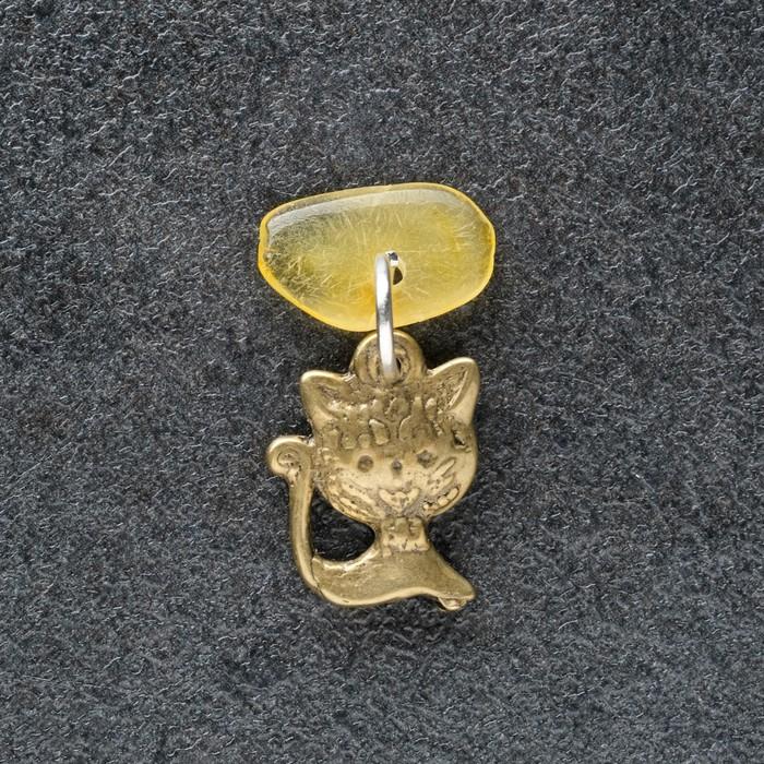 Брелок-талисман Киса, натуральный янтарь