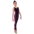 Лосины гимнастические «Нерида», размер 32, цвет чёрный - розовый