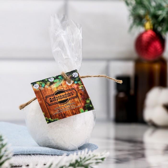 """Шипучая бомбочка из персидской соли """"Добропаровъ"""" с эфирным маслом апельсина,140гр"""