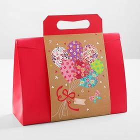 Пакет-коробка с ручкой 31 х 11 х 23 см Ош