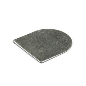 Подпяточник, без отверстия, металлический, цвет серебро Ош