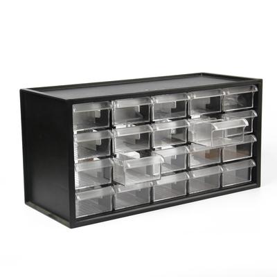 Ящик для фурнитуры Shuter, 38 × 20 × 15 см, пластик, чёрный