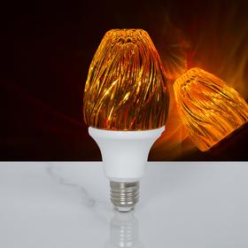 Лампа хрустальная 'Пламя', 12 LED, 2 режима, 3 Вт, акриловый верх, 220 В Ош