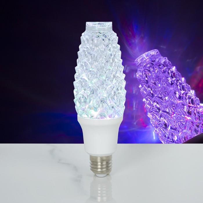 Лампа хрустальная Шишка, 12 LED, 2 режима, 3 Вт, акриловый верх, 220V
