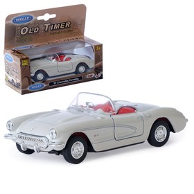 Машина винтажная Chevrolet Corvette, масштаб 1:34-39, цвета МИКС