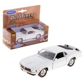 Машина винтажная Ford Mustang, масштаб 1:34-39, цвета МИКС