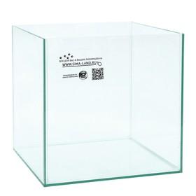 Аквариум куб без покровного стекла, 27 литров, 30 х 30 х 30 см, бесцветный шов Ош