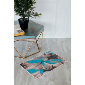 Коврик для дома «Абстракция цветов», 40×69 см Ош