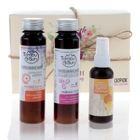 Подарочный набор органической косметики Woman's Day: шампунь «5 целебных глин», масло и бальзам для волос Ош