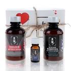 Подарочный мужской набор «Валентин»: шампунь, бальзам и масло для усов и бороды, натуральная косметика