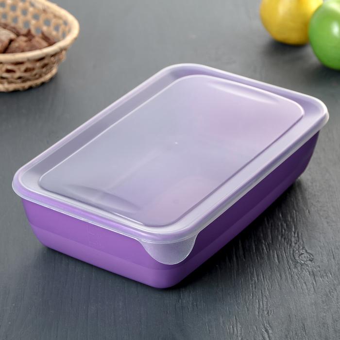 Контейнер пищевой для СВЧ 3 л, цвет МИКС