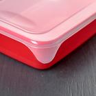 Набор контейнеров прямоугольных 0,9 л, 3 шт, цвет МИКС - Фото 3
