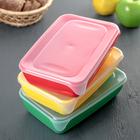 Набор контейнеров прямоугольных 0,9 л, 3 шт, цвет МИКС - Фото 5