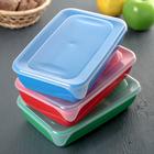 Набор контейнеров прямоугольных 0,9 л, 3 шт, цвет МИКС - Фото 6