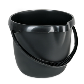 Ведро мерное, 12 л, цвет чёрный