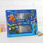 Набор витражных красок с витражами 6 цв. по 10,5 мл, витражи: мини 6 шт, большие 4 шт.