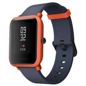 """Смарт-часы Xiaomi Amazfit Bip, цветной дисплей 1.28"""", красные с чёрным ремешком"""