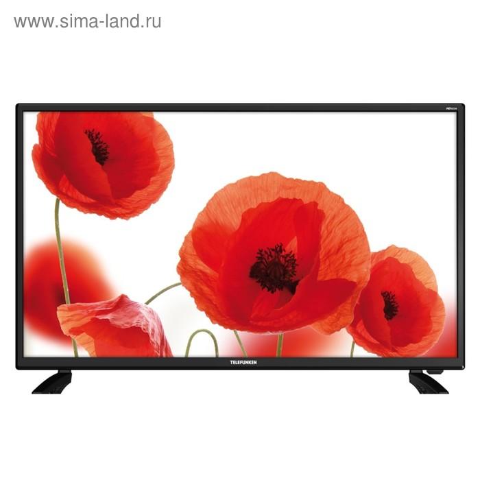 "Телевизор Telefunken TF-LED32S76T2, 32"", 1366x768, DVB-T2, 3xHDMI, 1xUSB, черный"