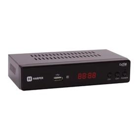Приставка для цифрового ТВ Harper HDT2-5050, DVB-T2, FullHD, дисплей, HDMI, RCA, USB, черный   41280 Ош