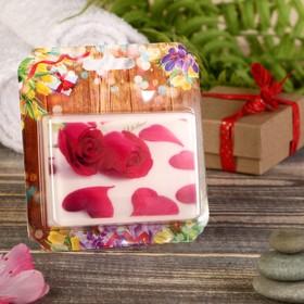Натуральное мыло 'Лепестки роз', зелёный чай, 'Добропаровъ', 100гр Ош