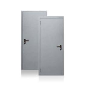 Сейф-дверь Противопожарная EI60, 970 × 2100 мм, левая, цвет шагрень серая