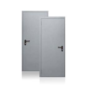 Сейф-дверь Противопожарная EI60, 870 × 2050 мм, левая, цвет шагрень серая