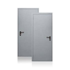 Сейф-дверь Противопожарная EI60, 970 × 2050 мм, левая, цвет шагрень серая