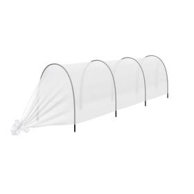 Парник прошитый «уДачный», длина 3.5 м, 4 дуги из пластика, дуга L = 2,4 м, d = 16 мм, укрывной материал 35 г/м² Ош