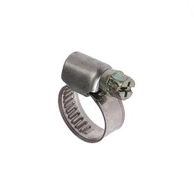 Хомут червячный TUNDRA krep W2, диаметр 10-16 мм, ширина 9 мм, нержавеющая сталь Ош