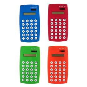 Калькулятор настольный, 8-разрядный, двойное питание, МИКС