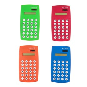 Калькулятор настольный, 12-разрядный, двойное питание, МИКС