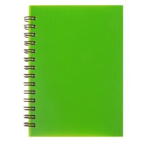 Записная книжка А6, 80 листов на гребне «Зелёная НЕОН», пластиковая обложка Ош