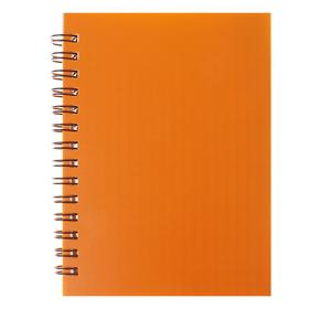 Записная книжка А6, 80 листов на гребне «Оранжевая НЕОН», пластиковая обложка Ош