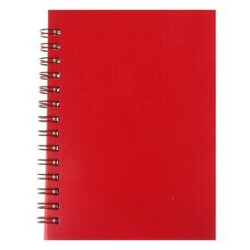 Записная книжка А6, 80 листов на гребне «Красная», пластиковая обложка Ош