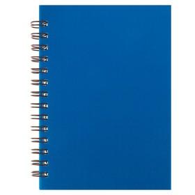 Записная книжка А6, 80 листов на гребне «Синяя», пластиковая обложка Ош