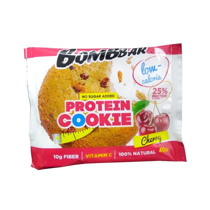 Протеиновое печенье BOMBBAR, вишня, 40 г