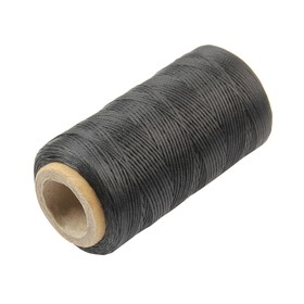Нитки прошивочные, вощёные, 150D, толщина 0,55 мм, 200 м, чёрные Ош
